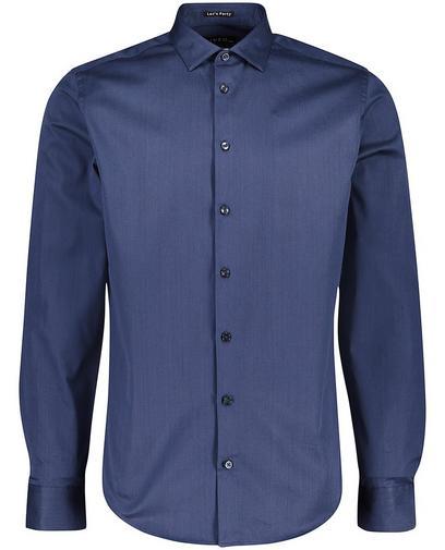Donkerblauw hemd